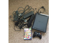 Xbox 360 120GB with Kinect, wireless controller and chat headset
