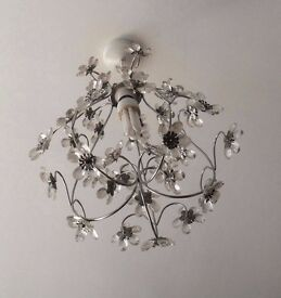 Floral Silver Chandelier
