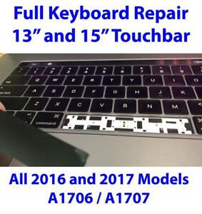 Keyboard Repair for Apple Macbook Pro A1706 A1707 13 & 15-inch Touchbar US English Keycaps Keys with Butterfly Hinges