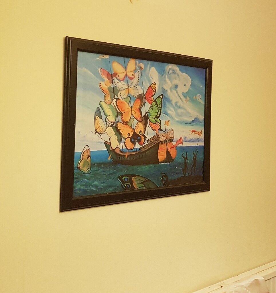 IKEA framed poster - Salvador Dali Butterfly ship | in Cheltenham ...