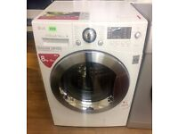 LG - White, Direct Drive, 8kg, 1400, Digital WASHER DRYER + 3 Months Guarantee + FREE LOCAL DELIVERY