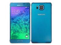 SAMSUNG GALAXY ALPHA SM-G850F SCUBA BLUE FACTORY UNLOCKED SMARTPHONE 32GB