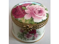 Fenton Fine Bone China Floral Trinket Pot 70th Birthday