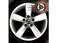 "16"" Genuine VW alloys 5x112 Caddy Golf good cond excel premium tyres."