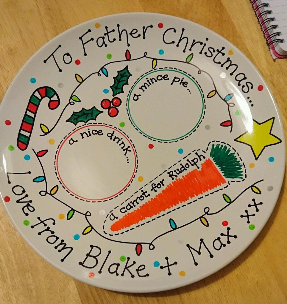 Christmas Eve Plates giftin Stirchley, West MidlandsGumtree - A beautiful personalised hand decorated plate to leave Santa a treat on for Christmas Eve.Can be personalised with up to 4 childrens names or a family name. Collection from B297SS StirchleyAlso I am selling little stocking fillers of... Snowman soup...