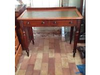 Vintage Small Desk with leather top