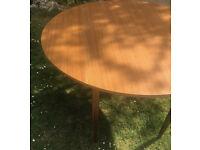 Mid century drop-leaf dining table