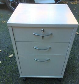 Grey painted filing cabinet