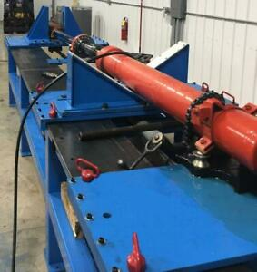 Custom Hydraulic Cylinder Breakdown Bench and 3000PSI Pressure Testing System *VIDEO*