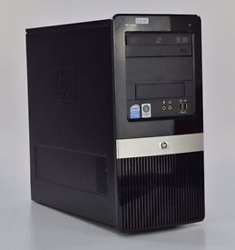 WINDOWS VISTA HP DX2420 INTEL DUAL CORE TOWER COMPUTER - 2GB RAM 320GB 2.50 PC