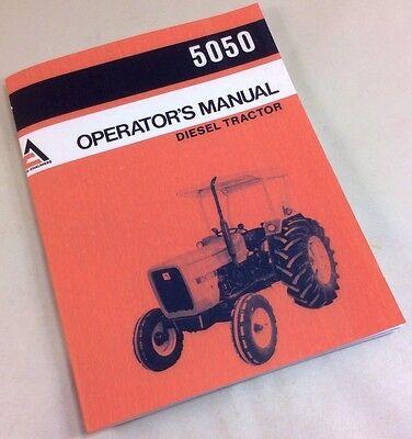 Allis Chalmers Ac 5050 Operators Owners Manual Diesel Tractor Maintenance Adjust