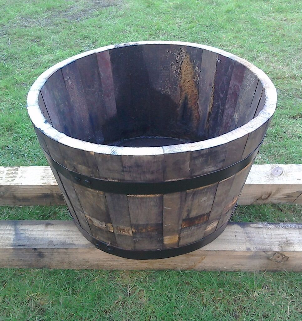 TWO WHISKY BARREL GARDEN TUBS FOR SALE £45 | in Falkirk | Gumtree