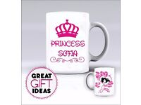 Princess - Mug/Mugs - Add Any Name of Your Choice