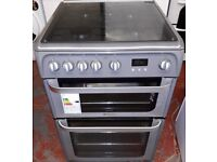 hotpoint 60cm wide double oven and grill gas cooker