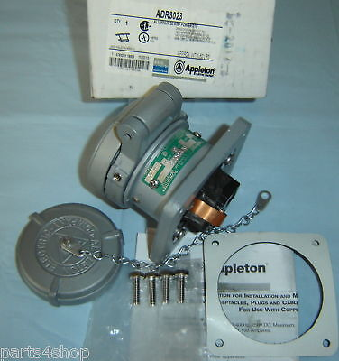 Appleton Pinsleeve Adr3023 Receptacle 30a 2w3p New