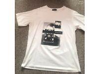 Maniere De Voir Graphic Print T Shirt - Men's Size L - White - DESIGNER