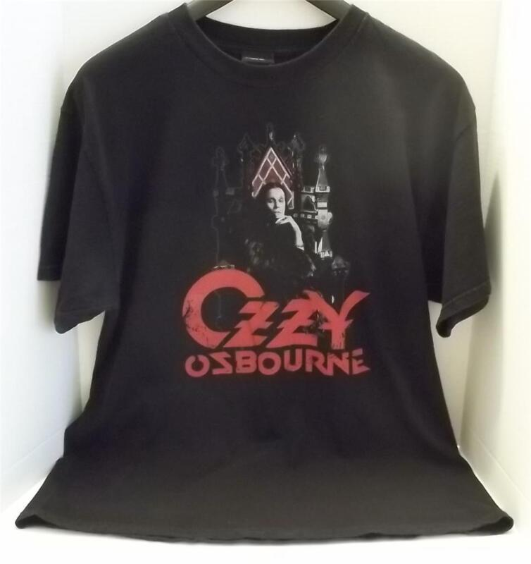 OZZY OSBOURNE ON THE THRONE OFFICIAL 2007 BLACK VINTAGE STYLE T SHIRT LARGE
