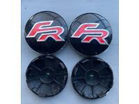 4x Seat 62mm FR Alloy Wheel Centre Caps