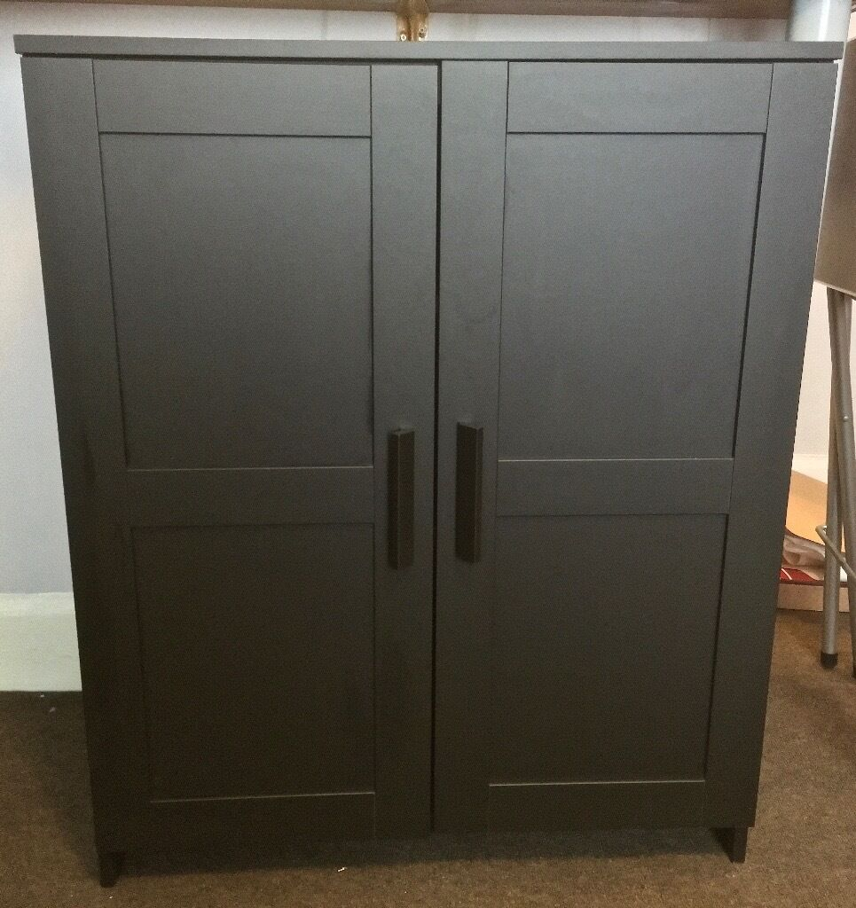 ikea brimnes cabinet with doors only 6 months old like. Black Bedroom Furniture Sets. Home Design Ideas