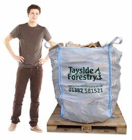 Bulk bags of seasoned firewood logs delivered for just £60