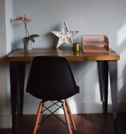 Rustic Chestnut Industrial Vintage Style Desk Hairpin legs Table
