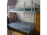 JAY-BE SOFA 3 BUNK BED and SILENT NIGHT MIRACOIL 3 DOUBLE MATTRESS. Very good condition.