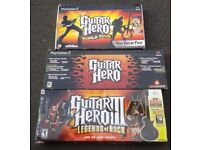 3 Guitar Hero's with Games PS2/PS3