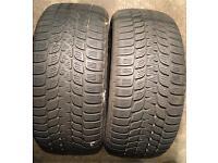 Bridgestone blizzak 225 50 17 x2 pair 5mm+ tread winter tyres
