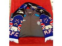 Glasgow Rangers Football Club 🇬🇧 Jacket and scarf with 4 badges