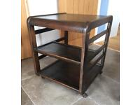 Vintage TV/Stereo solid wood stand on castors