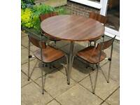 Vintage/retro formica topped table and chairs by Tavo of Belgium.