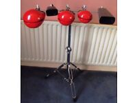 Percussion Stand PP240 with 3 Temple Blocks and 2 Cowbells CASH ON COLLECTION ONLY