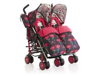 BRAND NEW TWIN COSATTO FLAMINGO PUSHCHAIR WITH ACCESSORIES