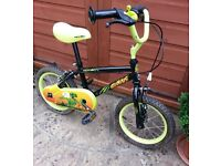 """Apollo Claws Kids Bicycle - 14"""" Wheels - Age 4 to 6"""