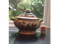 LARGE TUREEN. ORIENTAL PATTERN. NO DAMAGE