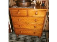 Victorian Satin Walnut chest of drawers
