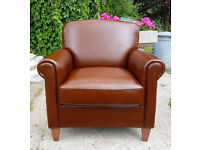 Brand new Heart of House Kingsley Leather Club Chair - Tan --Can Deliver--