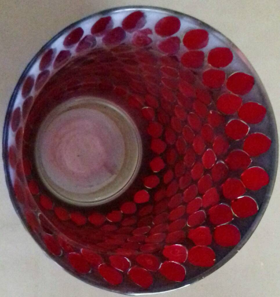 Red lustre large pieces mosaic hurricane vase in blackheath image 1 of 2 reviewsmspy