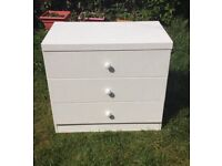 Flat Matte White Chest Of Drawers