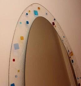 Elipsed mosaic vertical art deco mirror 1290mmx700mm