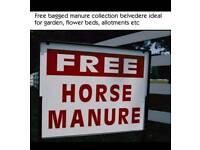Free bagged horse manure