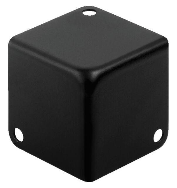 Monacor MZF-8502/SW Metall-Kofferecken schwarz