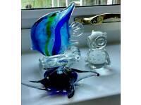 Three Glass/Resin Ornaments