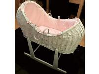 Moses basket & stand!