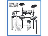 ROLAND TD-15KV vdrums electronic drum kit & pedal & hi hat stand vh-11 hi hat EXCELLENT