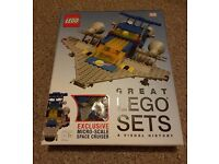 LEGO Great Lego Sets book with Space Ship Lego Set Included NEW