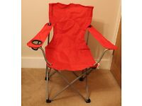 Red folding camping chair for sale