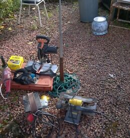 A selection of power tools