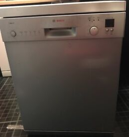 Silver Bosch dishwasher