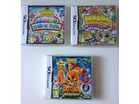 DS Nintendo Games Moshi Monsters, Phineas and Ferb £4, Brain Training & Solitaire £2